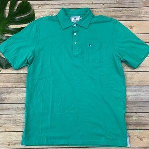 Southern Tide men's teal green Skipjack polo shirt